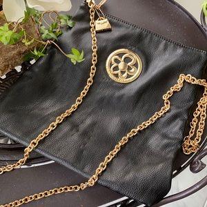 Jeanne Lottie Black Leather Crossbody Bag